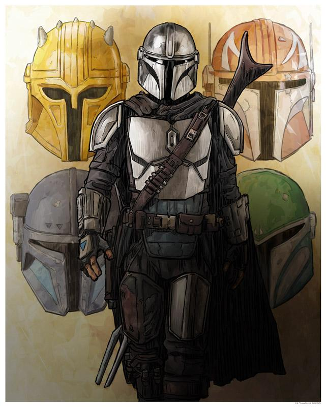 The Way of the Mandalore - Artwork Star Wars - ACME Archives The_wa10