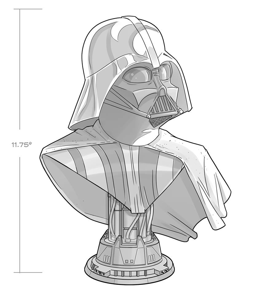 Darth Vader Half Scale Legend Bust - Gentle Giant Vador_21
