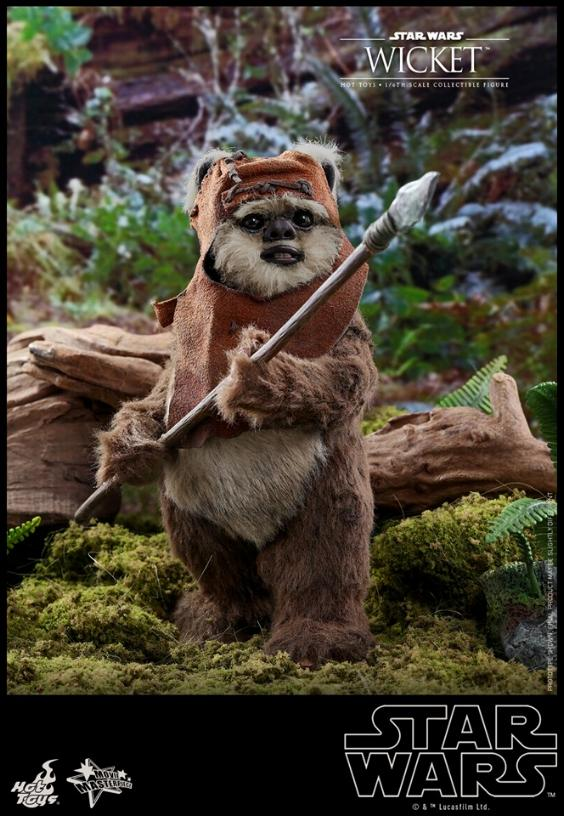 Wicket Sixth Scale Figure - Hot Toys Star Wars Wicket14