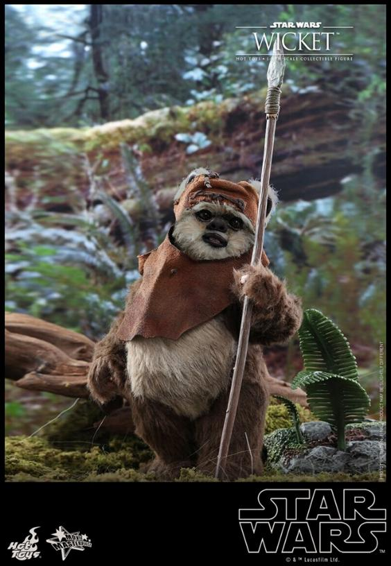 Wicket Sixth Scale Figure - Hot Toys Star Wars Wicket15
