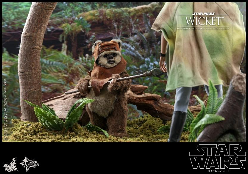 Wicket Sixth Scale Figure - Hot Toys Star Wars Wicket18