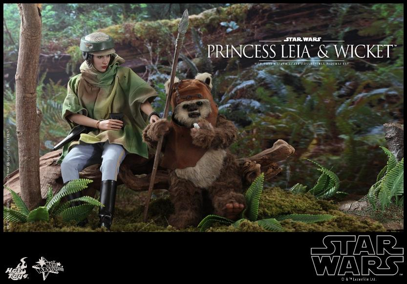 Leia & Wicket 1:6 Collectible Figures Set Hot Toys Star Wars Wicket28