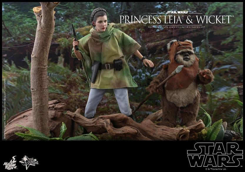 Leia & Wicket 1:6 Collectible Figures Set Hot Toys Star Wars Wicket29