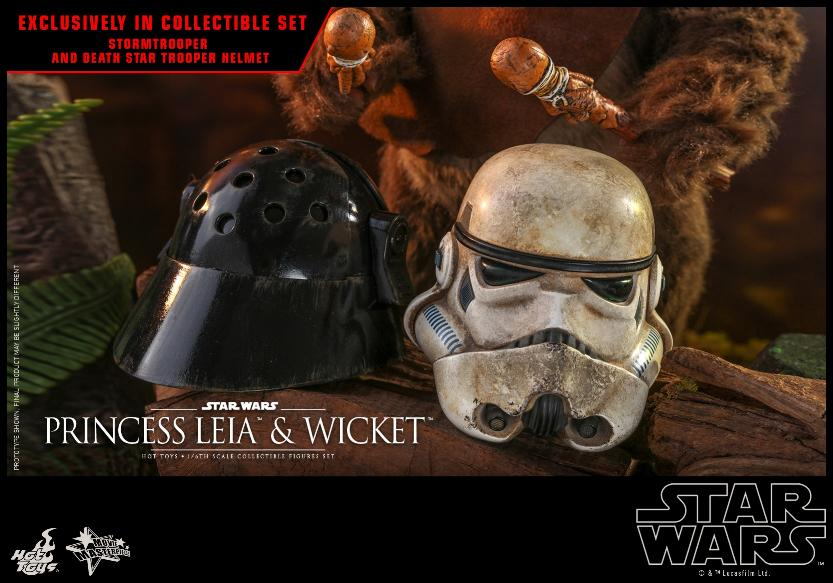 Leia & Wicket 1:6 Collectible Figures Set Hot Toys Star Wars Wicket30