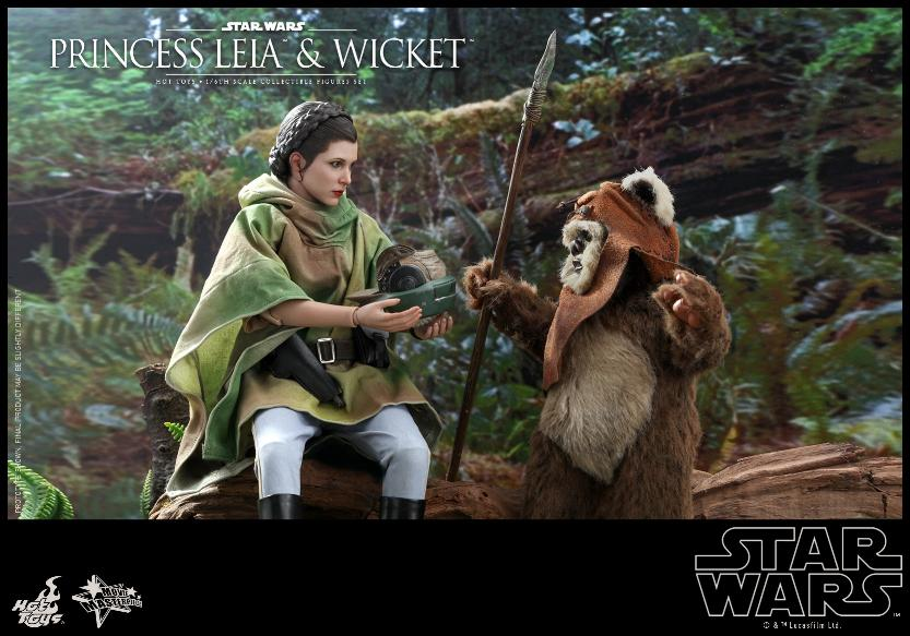 Leia & Wicket 1:6 Collectible Figures Set Hot Toys Star Wars Wicket31