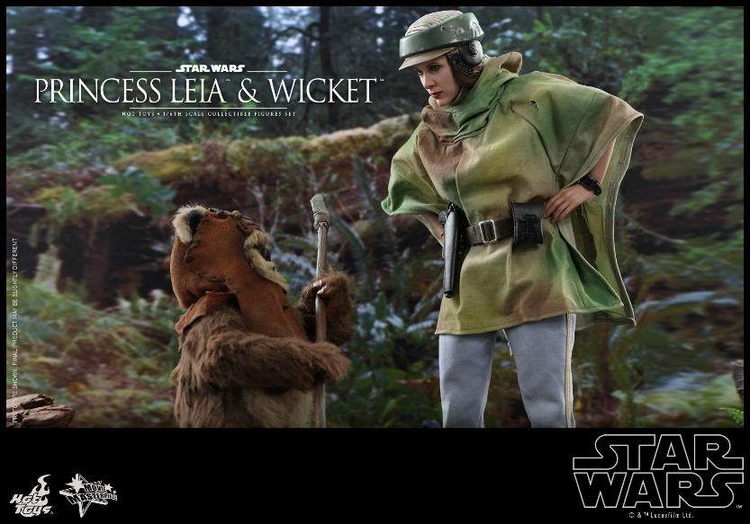 Leia & Wicket 1:6 Collectible Figures Set Hot Toys Star Wars Wicket32