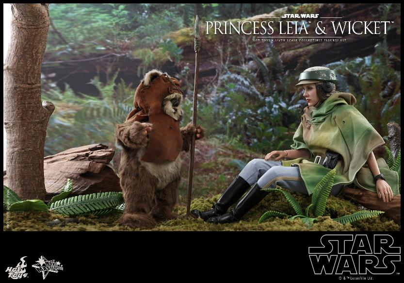 Leia & Wicket 1:6 Collectible Figures Set Hot Toys Star Wars Wicket33