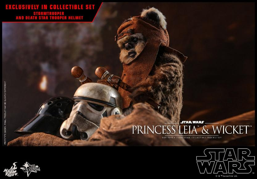 Leia & Wicket 1:6 Collectible Figures Set Hot Toys Star Wars Wicket34