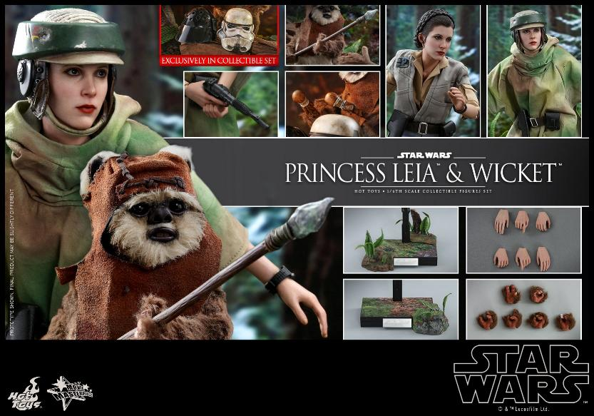 Leia & Wicket 1:6 Collectible Figures Set Hot Toys Star Wars Wicket35