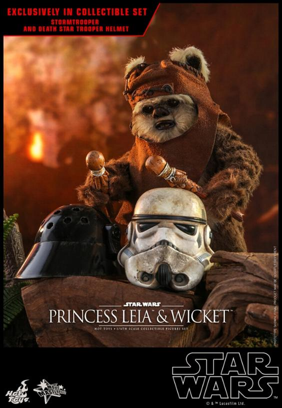 Leia & Wicket 1:6 Collectible Figures Set Hot Toys Star Wars Wicket36