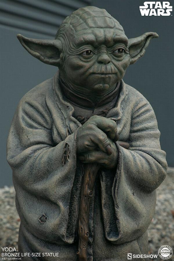 Yoda Bronze Life-Size Statue - Sideshow Collectibles  Yoda-b11