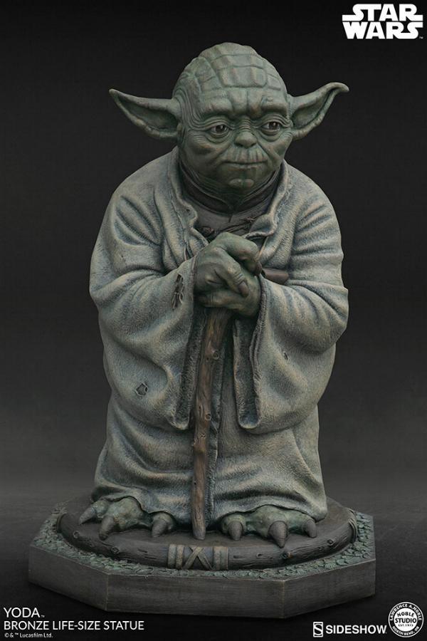 Yoda Bronze Life-Size Statue - Sideshow Collectibles  Yoda-b13