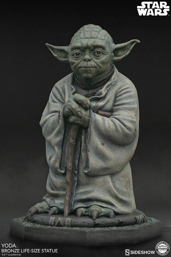 Yoda Bronze Life-Size Statue - Sideshow Collectibles  Yoda-b14