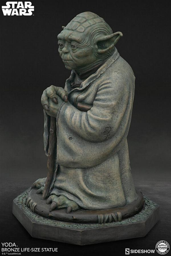 Yoda Bronze Life-Size Statue - Sideshow Collectibles  Yoda-b15