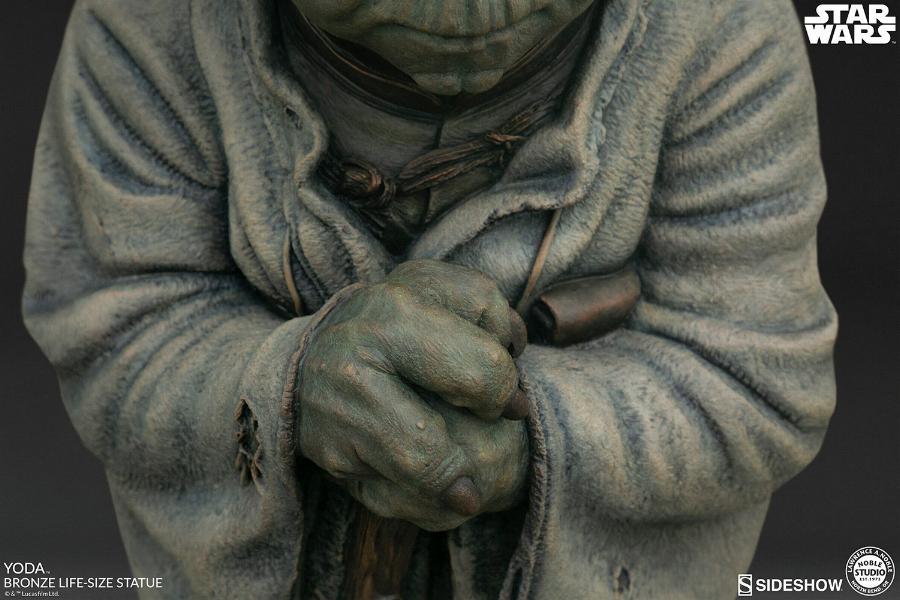 Yoda Bronze Life-Size Statue - Sideshow Collectibles  Yoda-b18