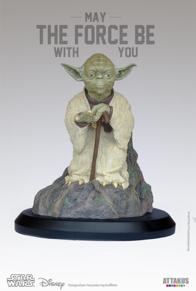ATTAKUS - Star Wars 1/5 Statue Yoda using the Force Yoda-t10