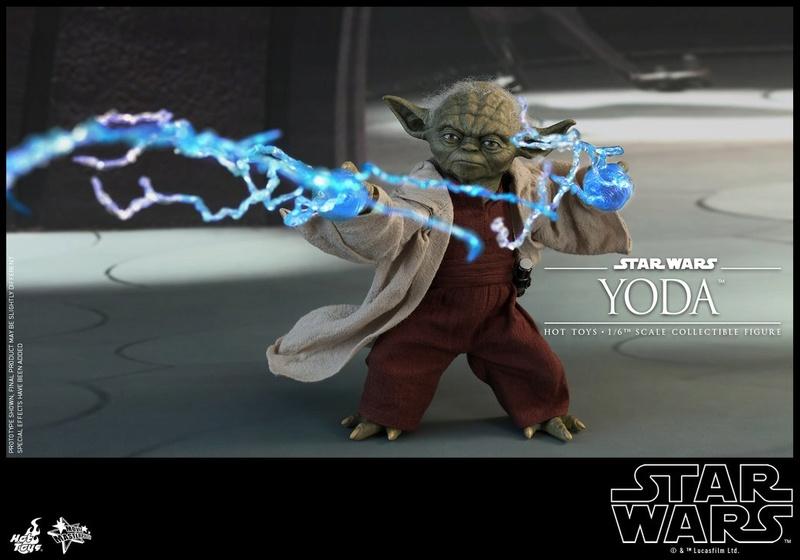 Hot Toys SW EP 2 - 1/6th scale Yoda Collectible Figure. Yoda_e12