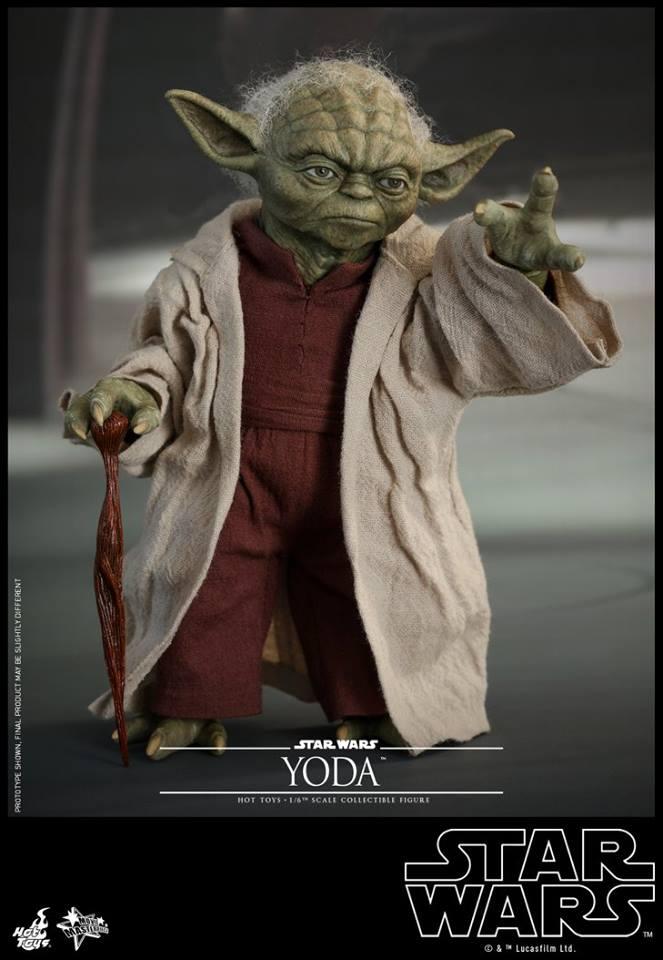 Hot Toys SW EP 2 - 1/6th scale Yoda Collectible Figure. Yoda_e13
