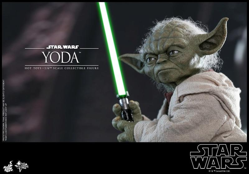 Hot Toys SW EP 2 - 1/6th scale Yoda Collectible Figure. Yoda_e16