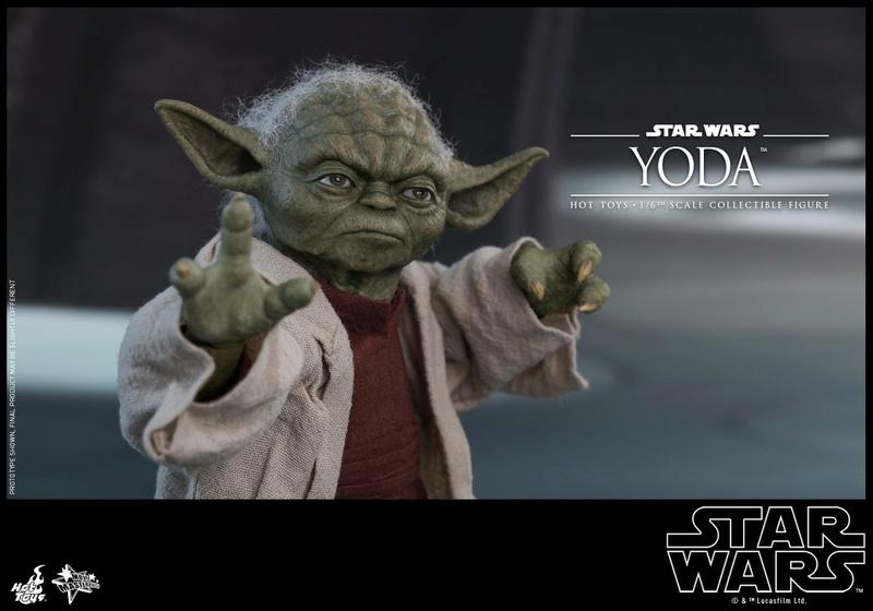 Hot Toys SW EP 2 - 1/6th scale Yoda Collectible Figure. Yoda_e19