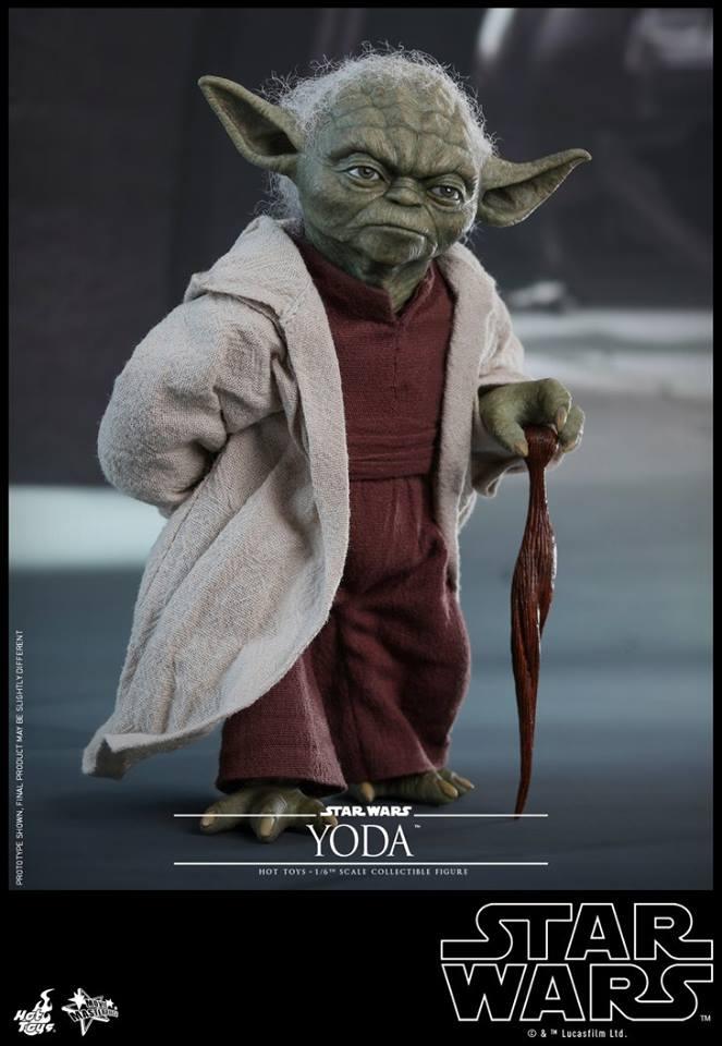 Hot Toys SW EP 2 - 1/6th scale Yoda Collectible Figure. Yoda_e20