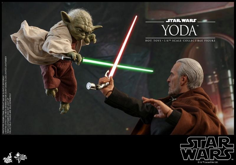 Hot Toys SW EP 2 - 1/6th scale Yoda Collectible Figure. Yoda_e25