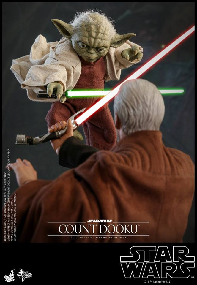 Hot Toys SW EP 2 - 1/6th scale Yoda Collectible Figure. Yoda_e26