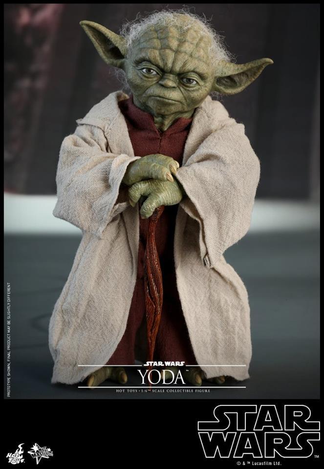Hot Toys SW EP 2 - 1/6th scale Yoda Collectible Figure. Yoda_e28