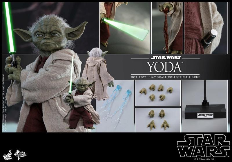 Hot Toys SW EP 2 - 1/6th scale Yoda Collectible Figure. Yoda_e34