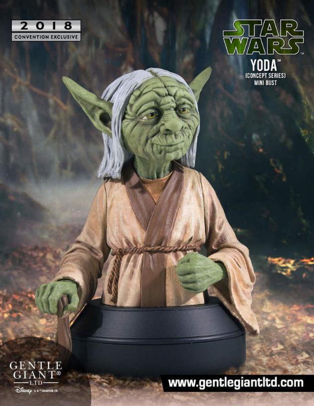 Gentle Giant SDCC 2018 Exclusive Yoda McQuarrie Mini Bust Yoda_m10