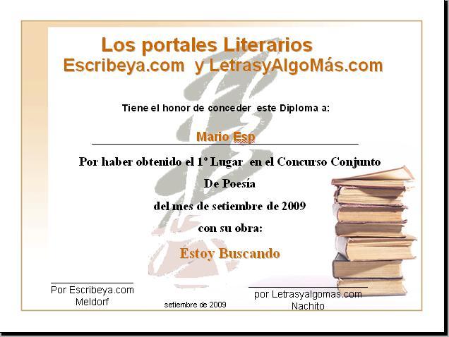 RESULTADOS I CONCURSO CONJUNTO  ESCRIBEYA-LETRAS Y ALGO MAS Diplom12