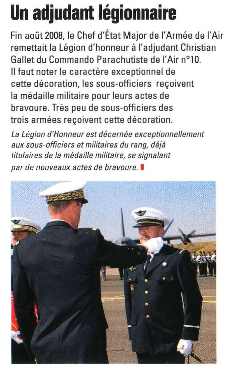 Commando parachutiste de l'Air Légion d'Honneur Ba123-11