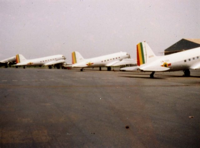 embarquement à bord d'un dakota Dakar_10