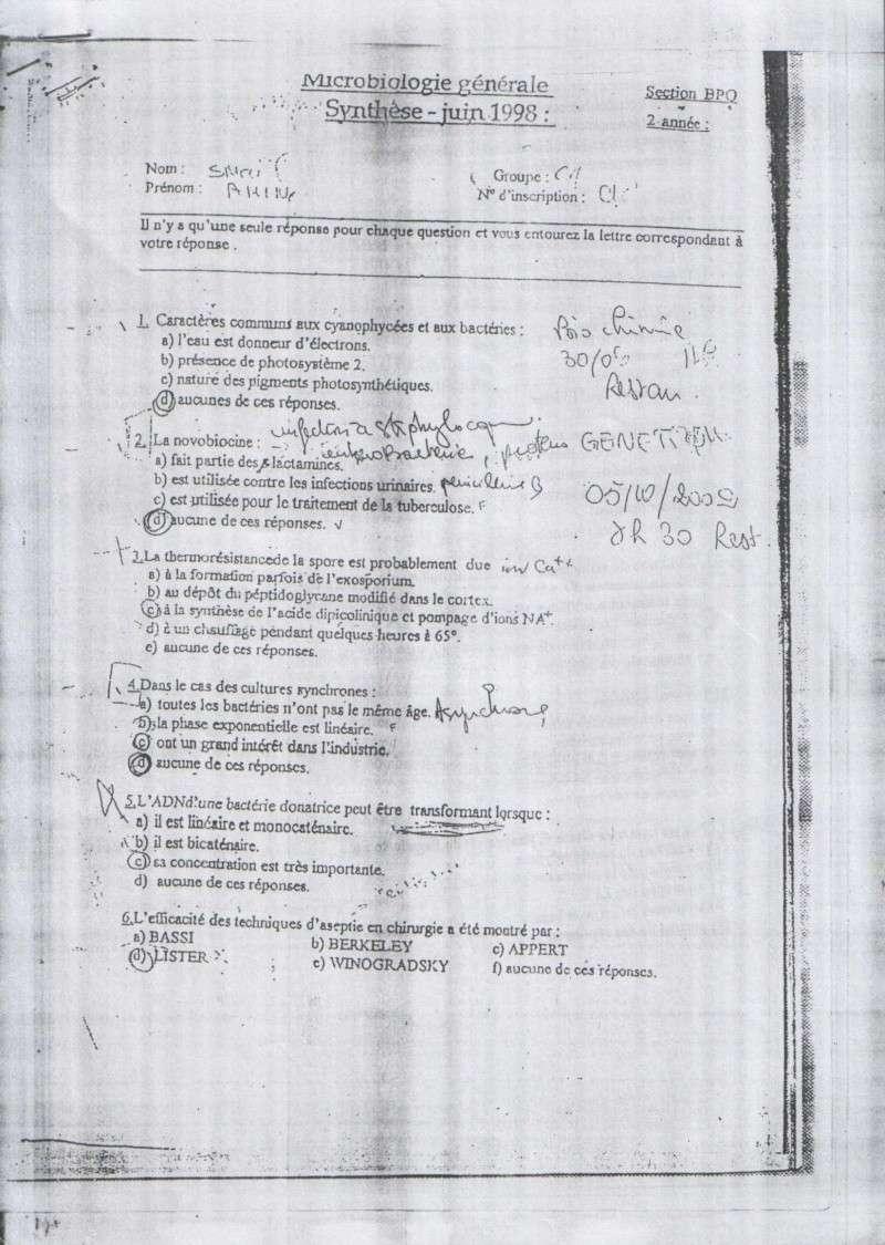 sujetsd'examens de micro ^_^ 1512