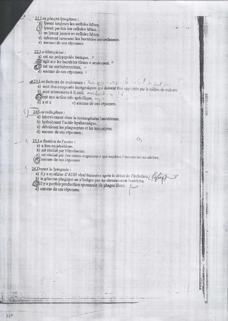 sujetsd'examens de micro ^_^ 1911