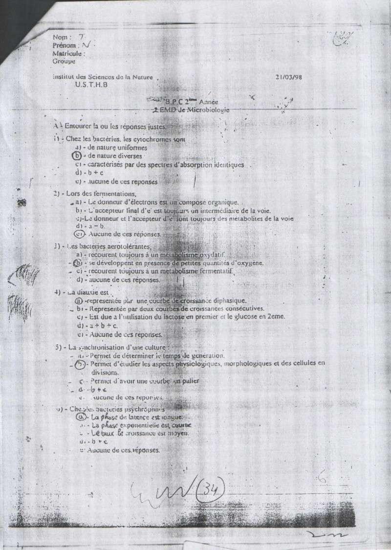 sujetsd'examens de micro ^_^ 2310