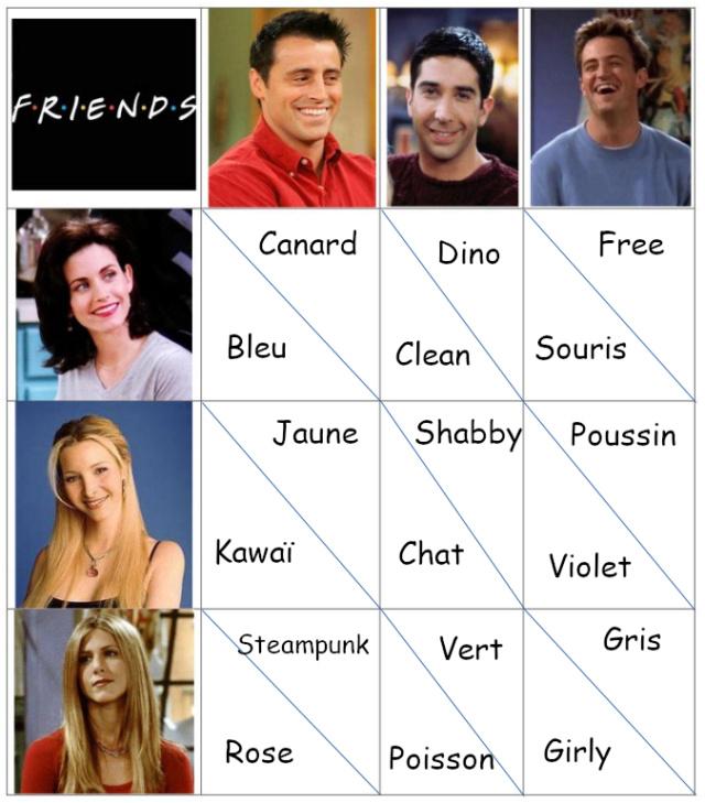 Back to the 90's - Friends - Bingo Bingo_11