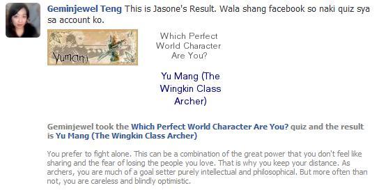 FaceBook Quiz (What PW Char suits you Best) Jasone10