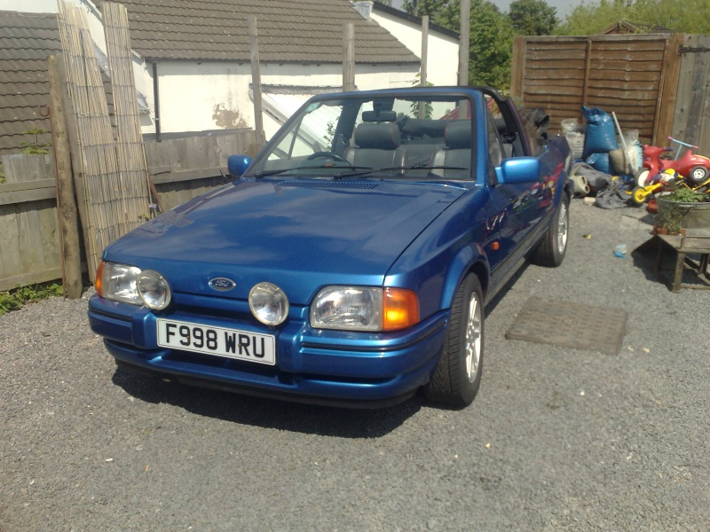 escort cabriolet xr3i 1988 blue new mot 29052010