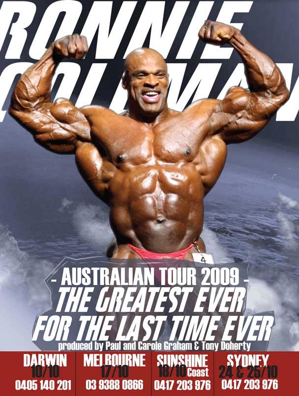 Ronnie Coleman, tournée Australienne 2009 Ronnie10