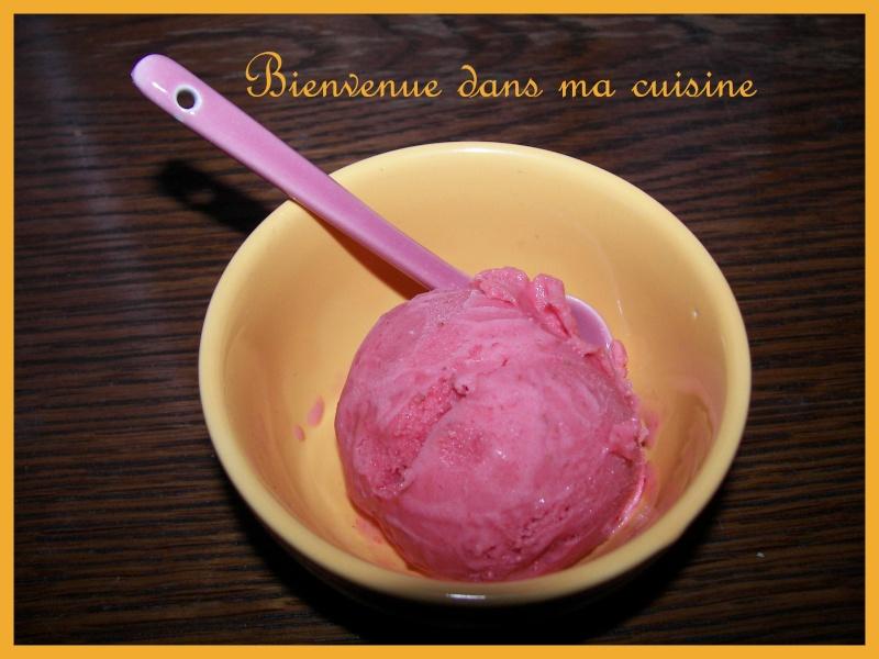 Glace à la fraises photo avec sorbetière Yannev11