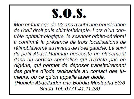 SOS Saidéen en détresse - Page 5 Annonc11