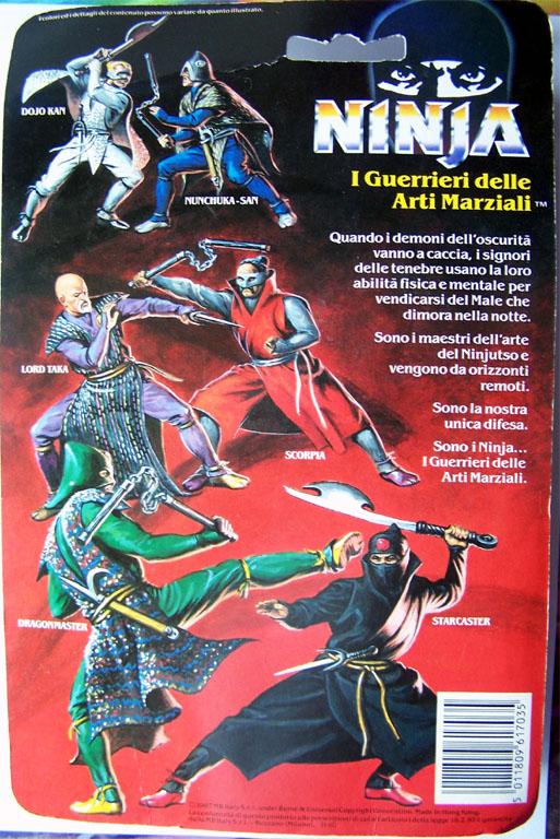 NINJA WARRIORS / Ninja  (Hasbro) 1986-1987 Ninjab10