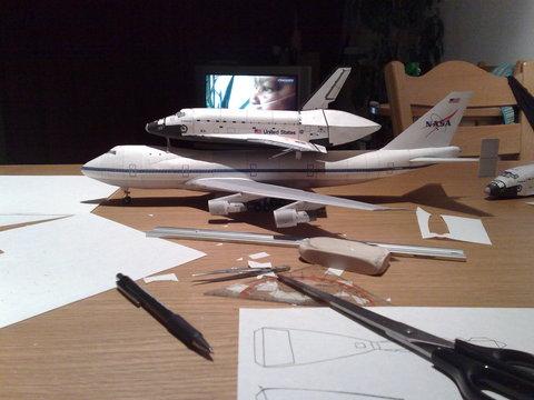 [maquette papier]  Shuttle Carrier Aircraft au 1/144 08-18-10