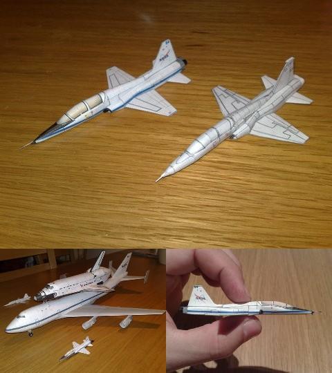 [maquette papier] T-38 au couleur nasa au 1/144 Sans_177