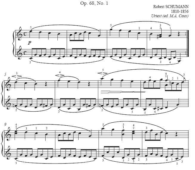 melodie  Album für die Jugend op.68 Op68no10
