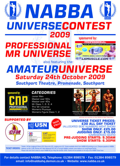 Nabba - Univers NABBA 2009 Poster11