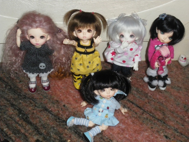 eleowine, capucine, eglantine, camélia et maiwen ma petite famille pukifee au complet+pigglet family Imgp5411
