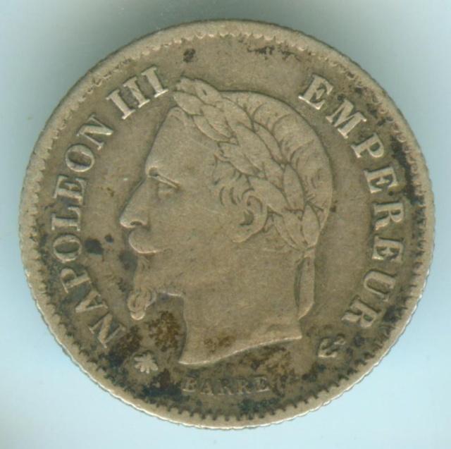 impériale - 2nd Empire - 20 centimes Napoléon III 1867 A 20ctna11