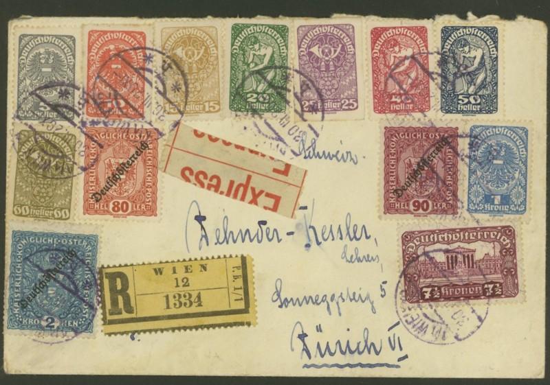 Ältere Briefe von Österreich  -  nett anzuschauen 0131